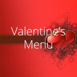 Rinuccini Valentine's Menu